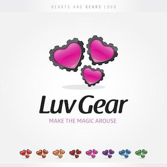 Logo heart gear
