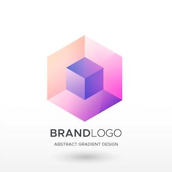 Logo hexa square gradient