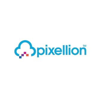Logo hostingu pikseli w chmurze
