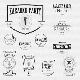 Logo i etykiety z odznakami karaoke