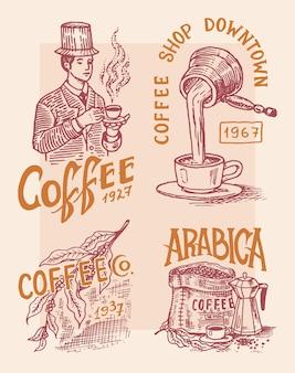 Logo i godło kawiarni