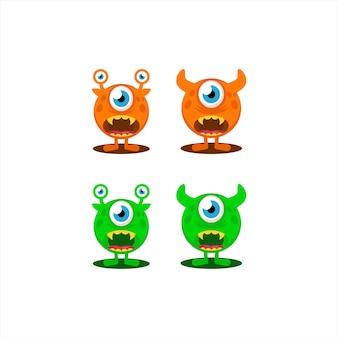 Logo ikony potwora