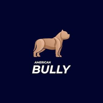Logo ilustracja amerykański bully gradient kolorowy