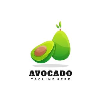 Logo ilustracja awokado gradient kolorowy styl.