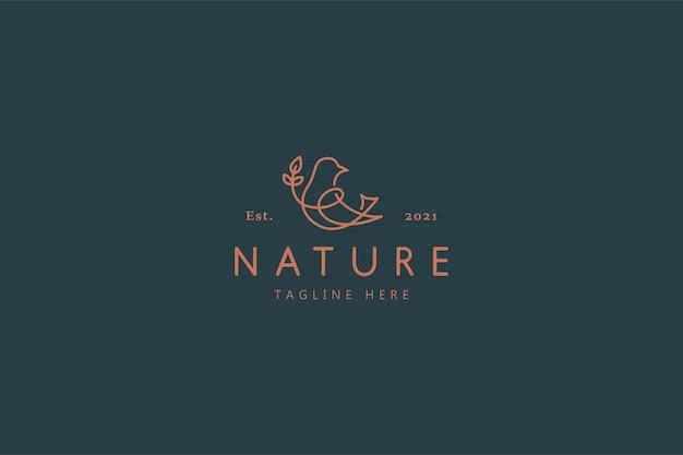 Logo ilustracja dzikiej przyrody ptak przyrody