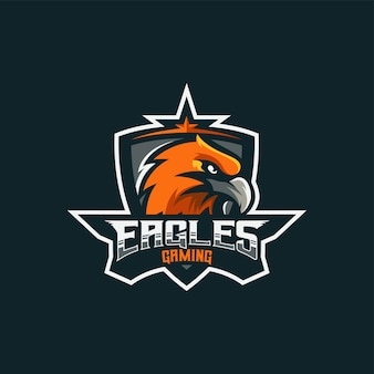Logo ilustracja eagle e sport i styl sportowy