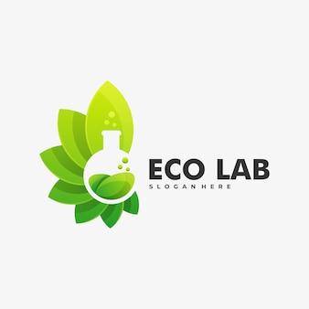 Logo ilustracja eco lab gradient kolorowy styl.