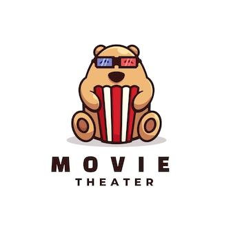 Logo ilustracja film prosty styl maskotki.