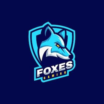 Logo ilustracja fox e-sport i styl sportowy.