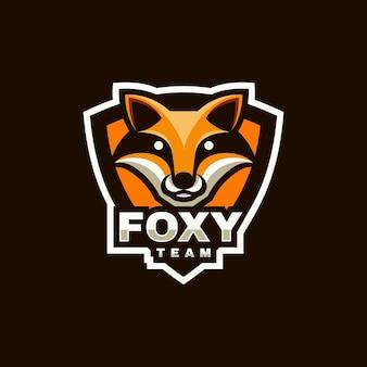 Logo ilustracja fox e sport i styl sportowy