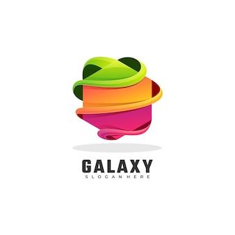 Logo ilustracja galaktyka gradientu kolorowy styl.