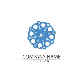 Logo ilustracja ikona fali wody