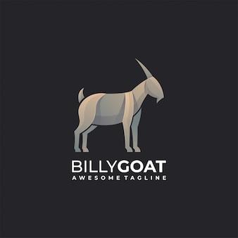 Logo ilustracja koza gradient kolorowy.