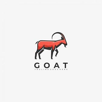 Logo ilustracja koza maskotka stylu cartoon.