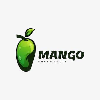Logo ilustracja mango gradient kolorowy styl.