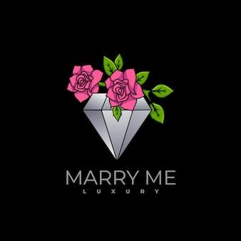 Logo ilustracja marry me gradient kolorowy styl.