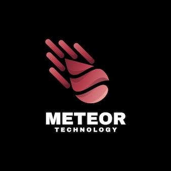 Logo ilustracja meteor gradient kolorowy styl.