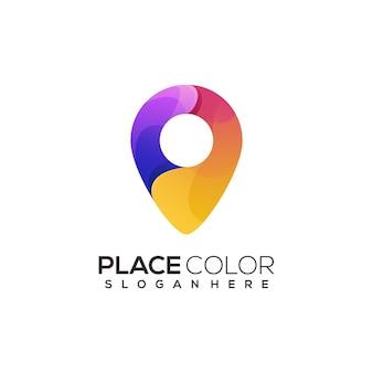 Logo ilustracja miejsce kolorowe gradientu