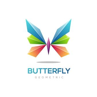 Logo ilustracja motyl gradient kolorowy styl