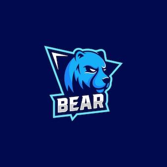 Logo ilustracja niedźwiedź e sport i styl sportowy.