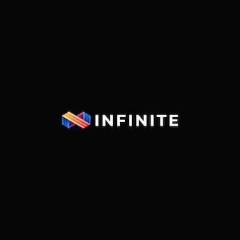 Logo ilustracja nieskończony kształt linii gradient kolorowy styl