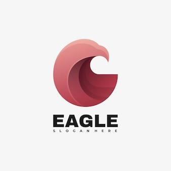 Logo ilustracja orzeł gradientu kolorowy styl.