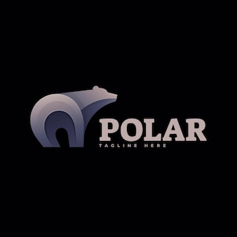 Logo ilustracja polar gradient kolorowy styl.