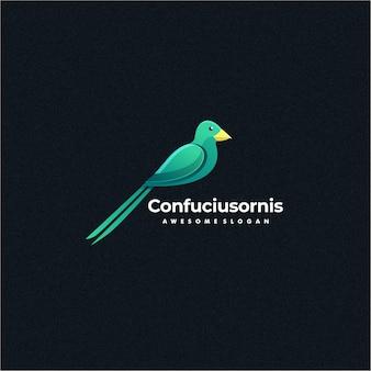 Logo ilustracja ptak kolorowy styl.