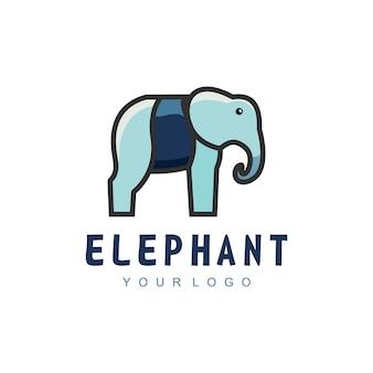 Logo ilustracja słoń elegancki prosty