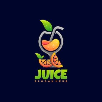 Logo ilustracja sok gradientu kolorowy styl szablon