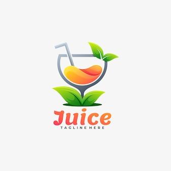 Logo ilustracja sok gradientu kolorowy styl.