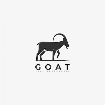 Logo ilustracja styl sylwetka koza.