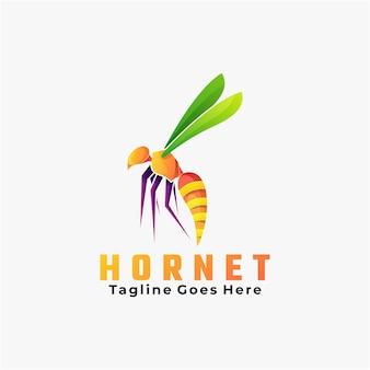 Logo ilustracja szerszeń gradientu kolorowy styl.
