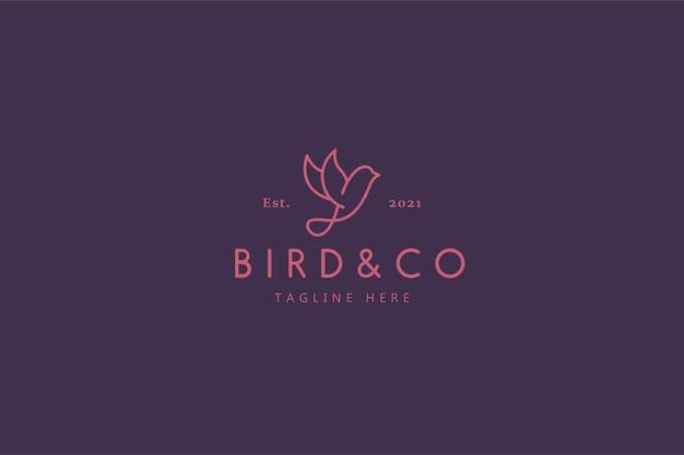 Logo ilustracji dzikiego ptactwa przyrody i marki