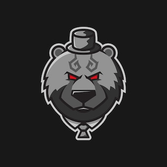 Logo ilustracji postaci bearturnedgangster