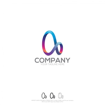 Logo infinity colorfull