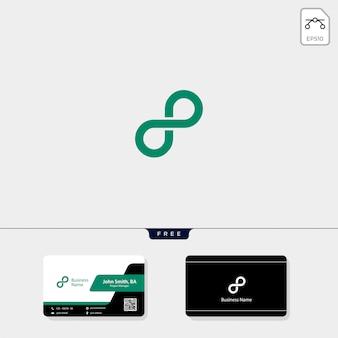 Logo infinity, uzyskaj bezpłatny szablon projektu wizytówki