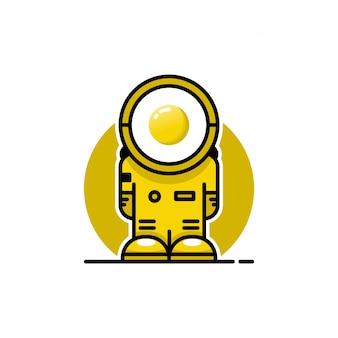 Logo jajka astronauta