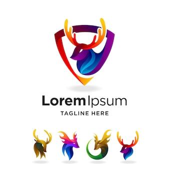 Logo jelenia z wieloma koncepcjami