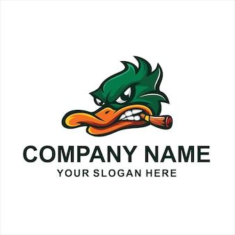 Logo kaczki głowy