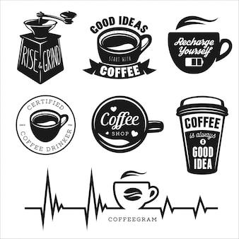 Logo kawy dla baru kawiarni