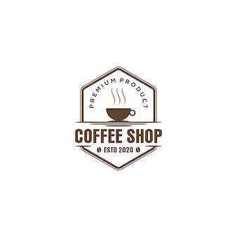 Logo kawy dla resto kawiarni i etykiety produktu