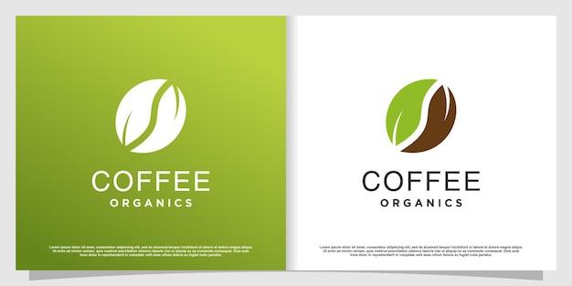Logo kawy z elementem kreatywnym premium wektor część 4
