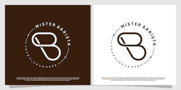 Logo kawy z elementem kreatywnym premium wektorów część 3
