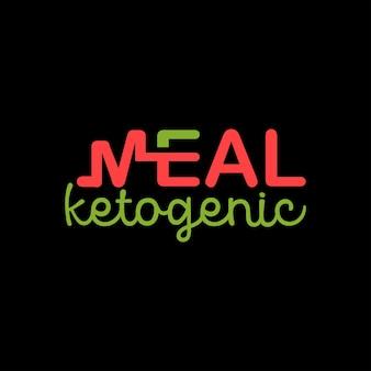 Logo ketogeniczne proste nowoczesne