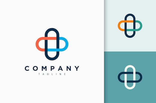 Logo kliniki lub apteki w prostym kształcie dla lekarza