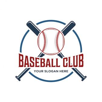 Logo klubu baseballowego z modelem vintage