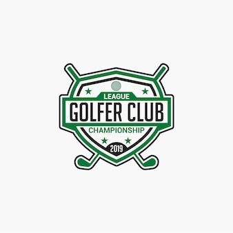 Logo Klubu Golfowego Premium Wektorów