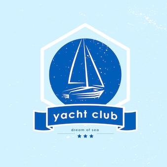 Logo klubu jachtowego. ilustracja.