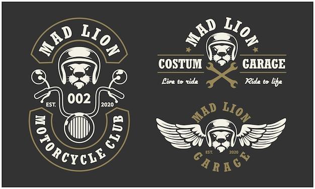 Logo klubu motocyklowego i garażu